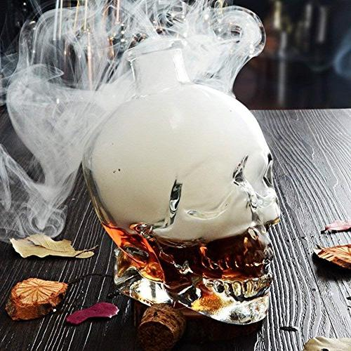 Party,Skull Decanter, Glass 25.6 Ounces-Alcohol