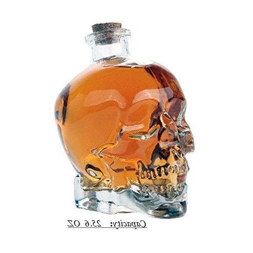 ✅Skull Christmas Party,Skull Bottle, Bottle,Wine Glass Kettle Ounces-Alcohol