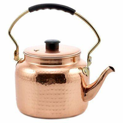 old dutch hammered copper tea kettle