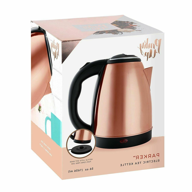 parker electric tea kettle rose