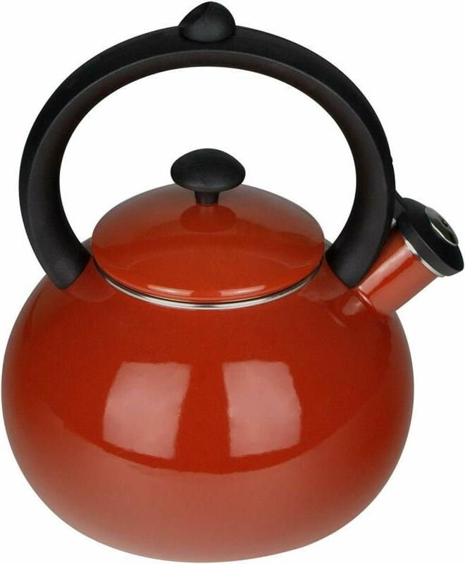 AIDEA Porcelain Enameled Tea Kettles - Whistling Tea Kettle