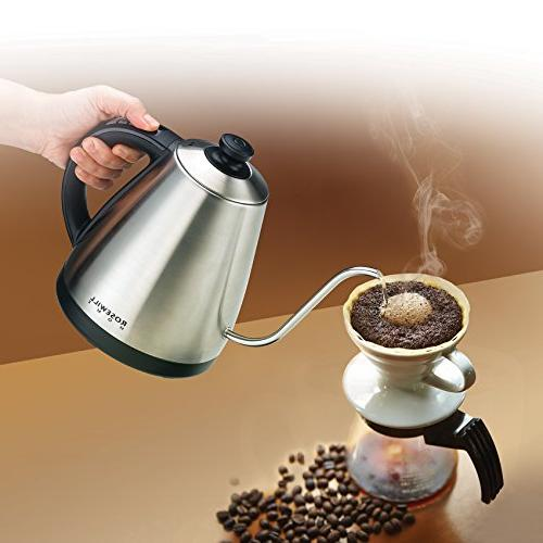 Rosewill Over Kettle, Gooseneck Coffee Temperature Variable Steel, RHKT-17002