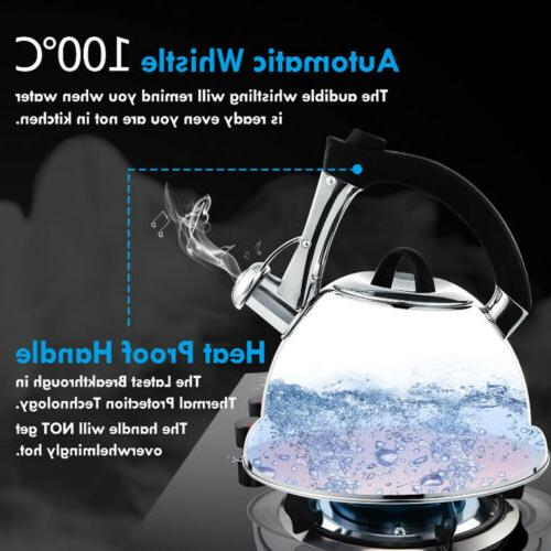 2.75 Quart/3 Liter Stainless Steel Whisting Tea Kettle for A