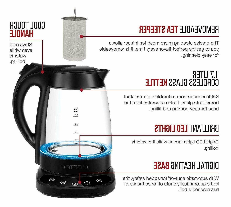 Chefman Programmable Electric Digital Display Tea Infuser Inclu