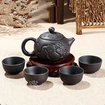 purple clay kung fu teapot 150ml chinese