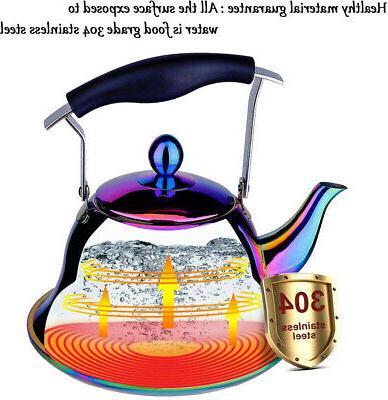 Rainbow Stainless Steel Sturdy Teapot 2