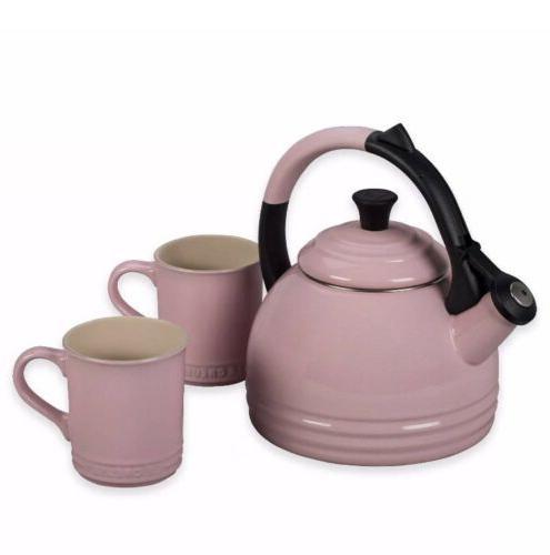Rare NIB Le Creuset Pink 1.7qt Tea Pot Kettle Teakettle x 2