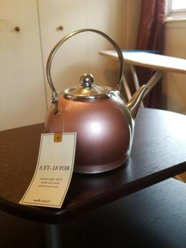 royal tea 1qt stainless steel tea kettle