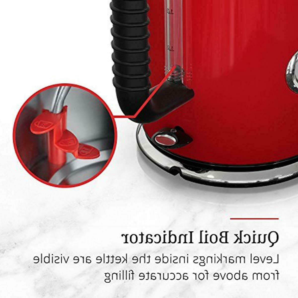 1.7L Electric Kettle, Red Stainless Steel, KE5550RDR