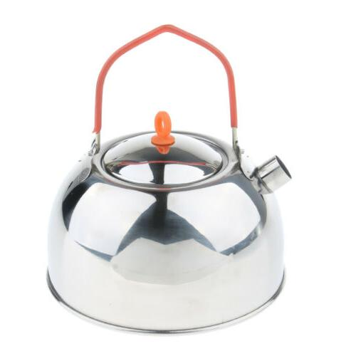 Silver Kettle Stove Top Pot Camping