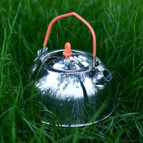 Silver Whistling Kettle Teapot Stove Pot kitchen