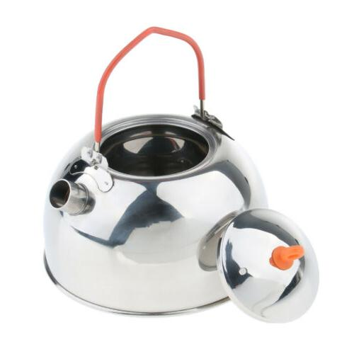 silver whistling kettle teapot stove top coffee