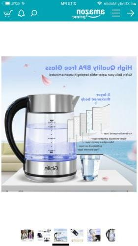 Smart Glass Electric Tea StainLess CordLess