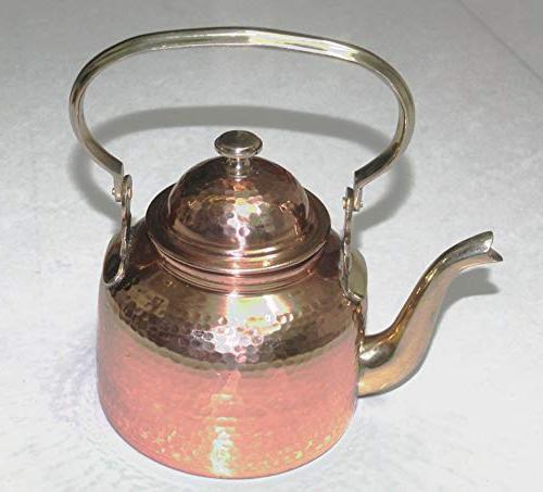 PARIJAT HANDICRAFT Hammered Tea Espresso Pouring for Kitchen, Hotel, Restaurant and Office, Capacity 40