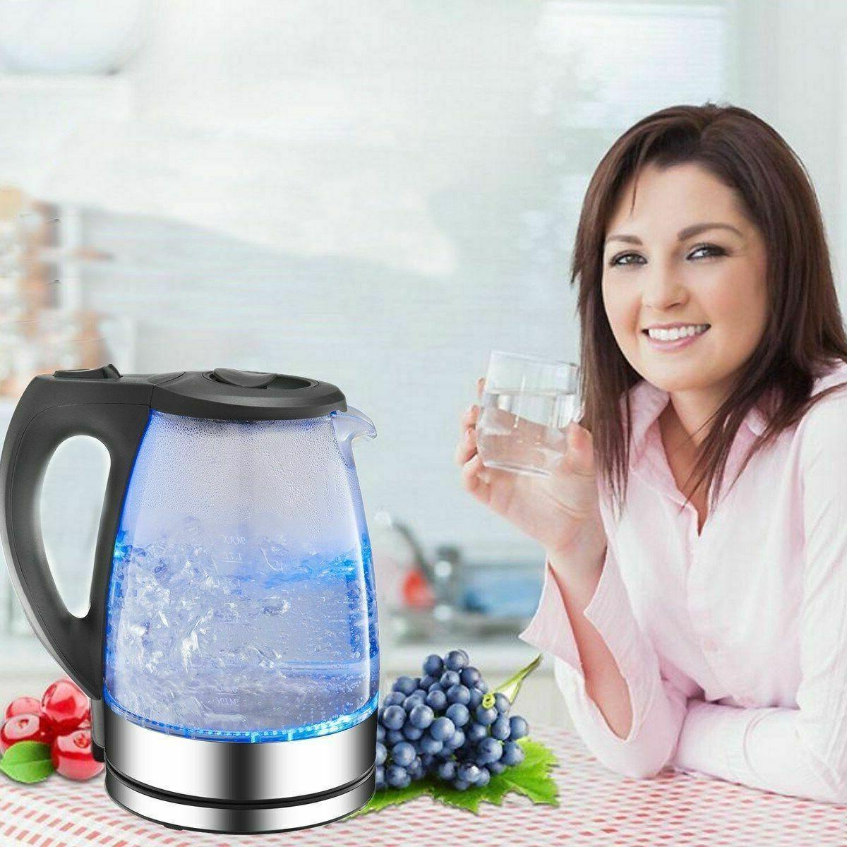 New Tea Water Pot Glass Light