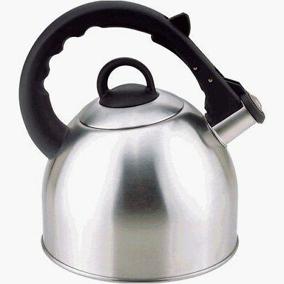 NEW Culinary Edge Stainless Steel 2.5 Quart Whistling Tea Ke