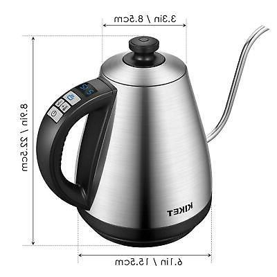 Stainless Steel Gooseneck Tea Kettle Keep Warm Programmable
