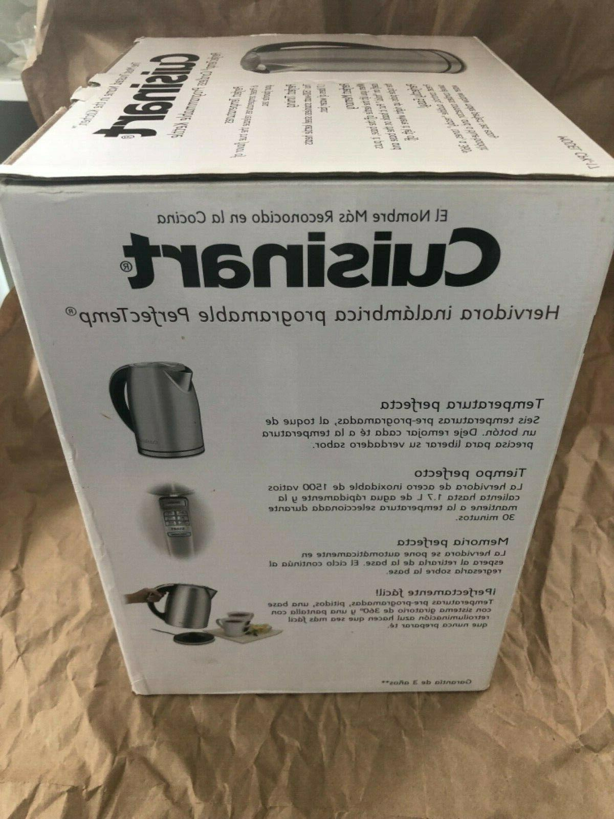 Cuisinart Stainless Steel Programmable Electric Water