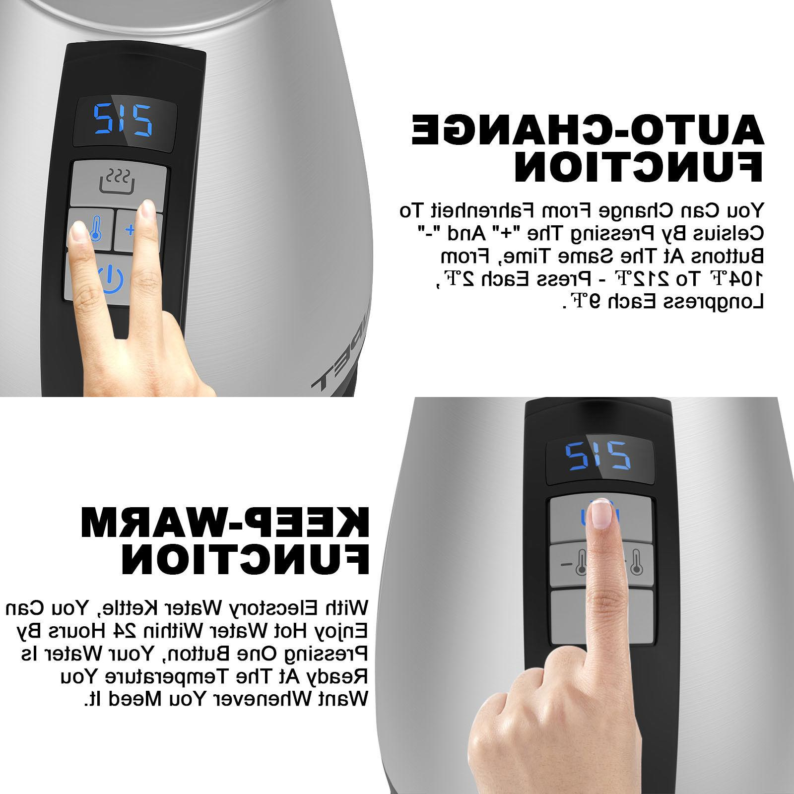 Stainless Kettle Temp Electric Kettle