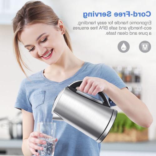New Electric Tea 1.7L 1500W Water Off