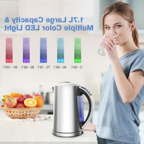 New Kettle 1.7L 1500W Water Off with LED