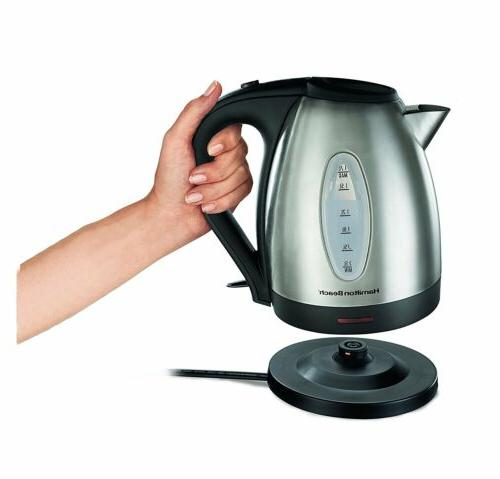 Hamilton Stainless Electric Kettle, 2 Colors