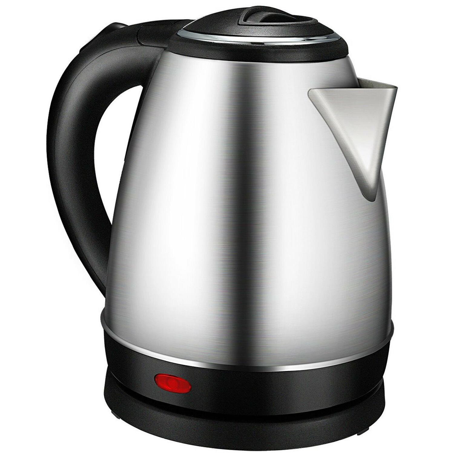 Stainless Steel Electric Kettle 1.7L 1500W Cordless Rapid Bo