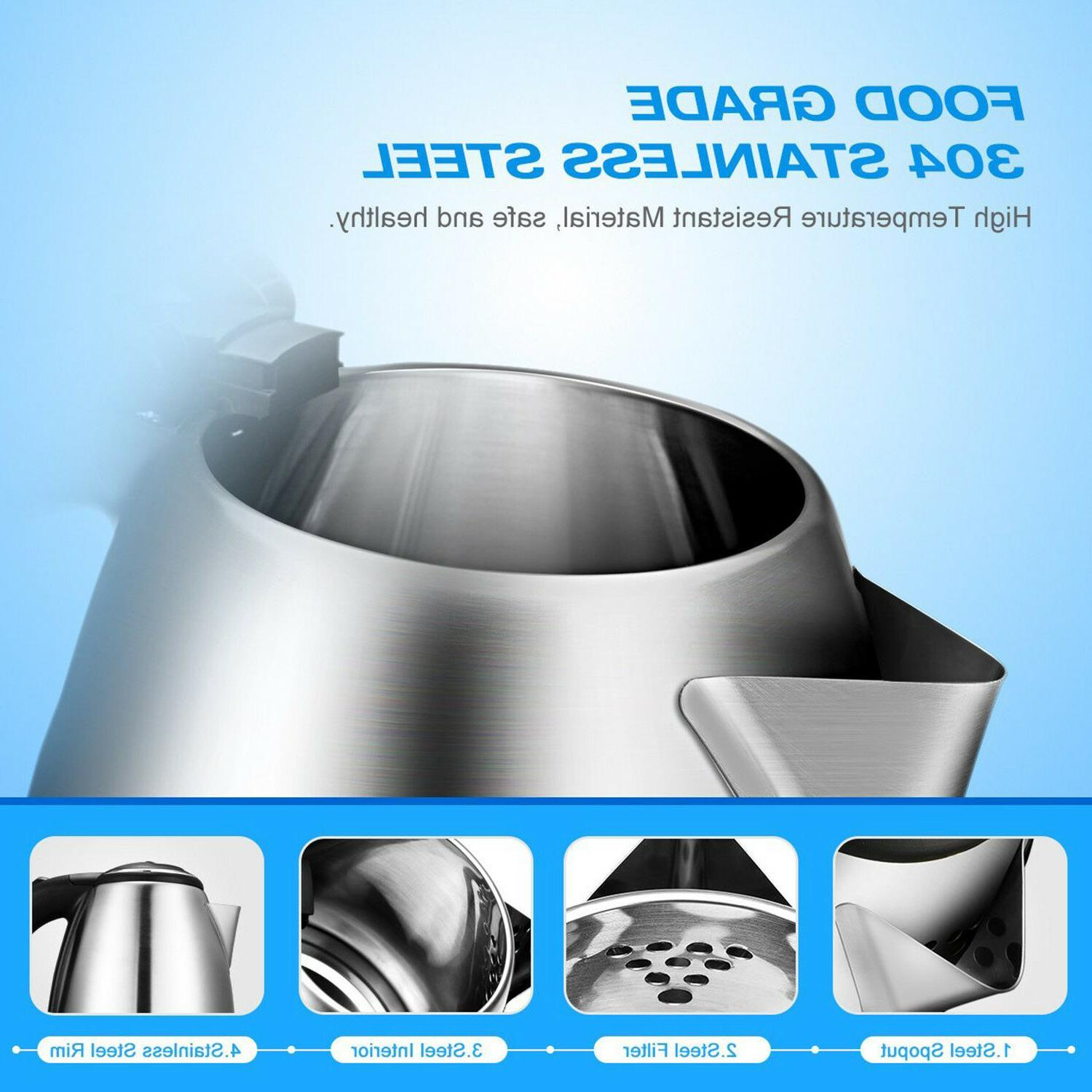 Stainless Electric Kettle 1.7L Boil Tea
