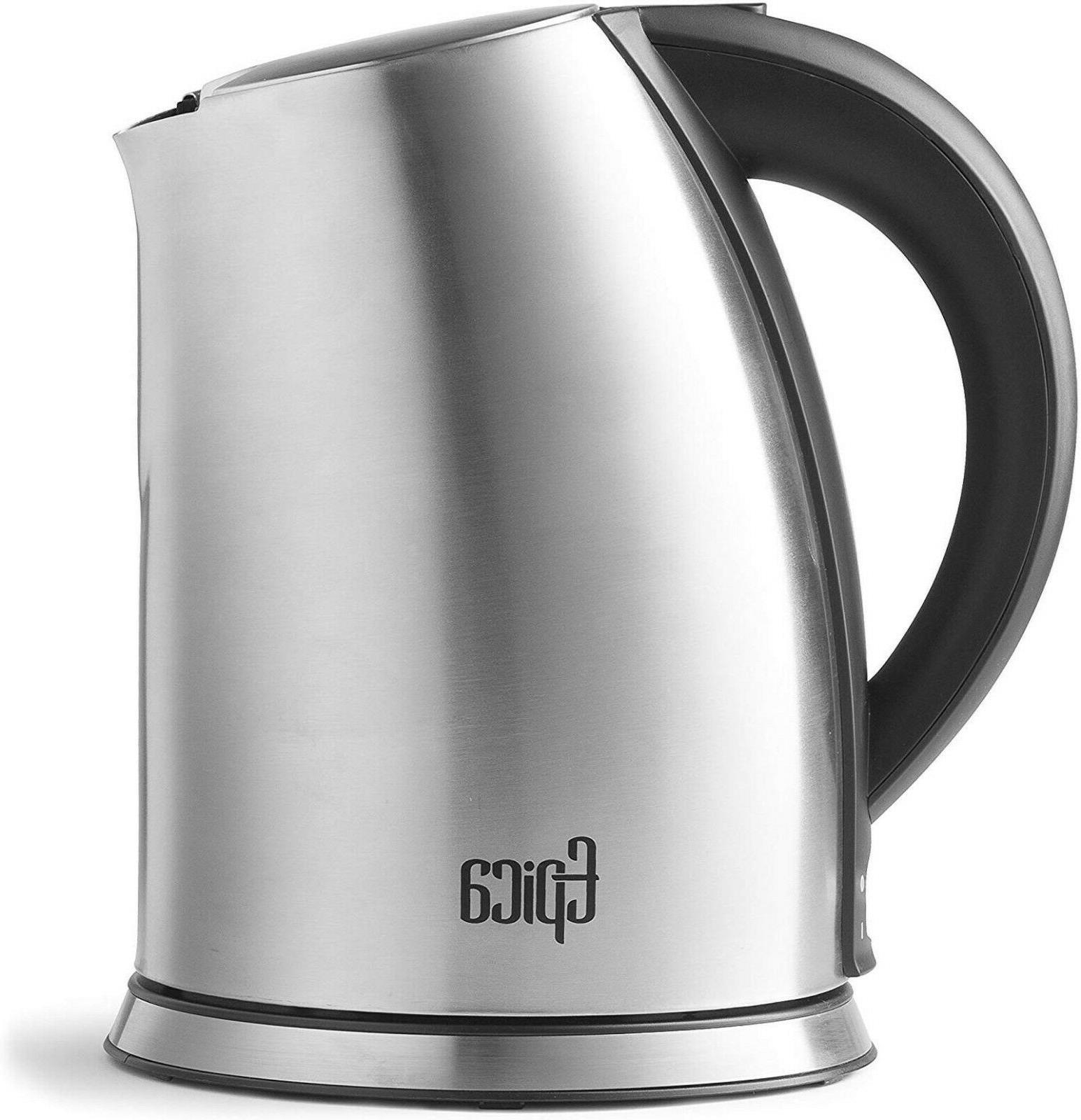 Stainless Steel Electric Coffee Hot Water Cordless L