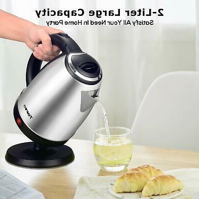 Stainless Kettle Hot Cordless Pot Boiler