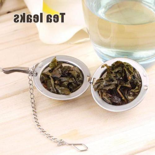Stainless Kettle Cup Infuser Strainer Mesh Tea Filter Spoon Locking