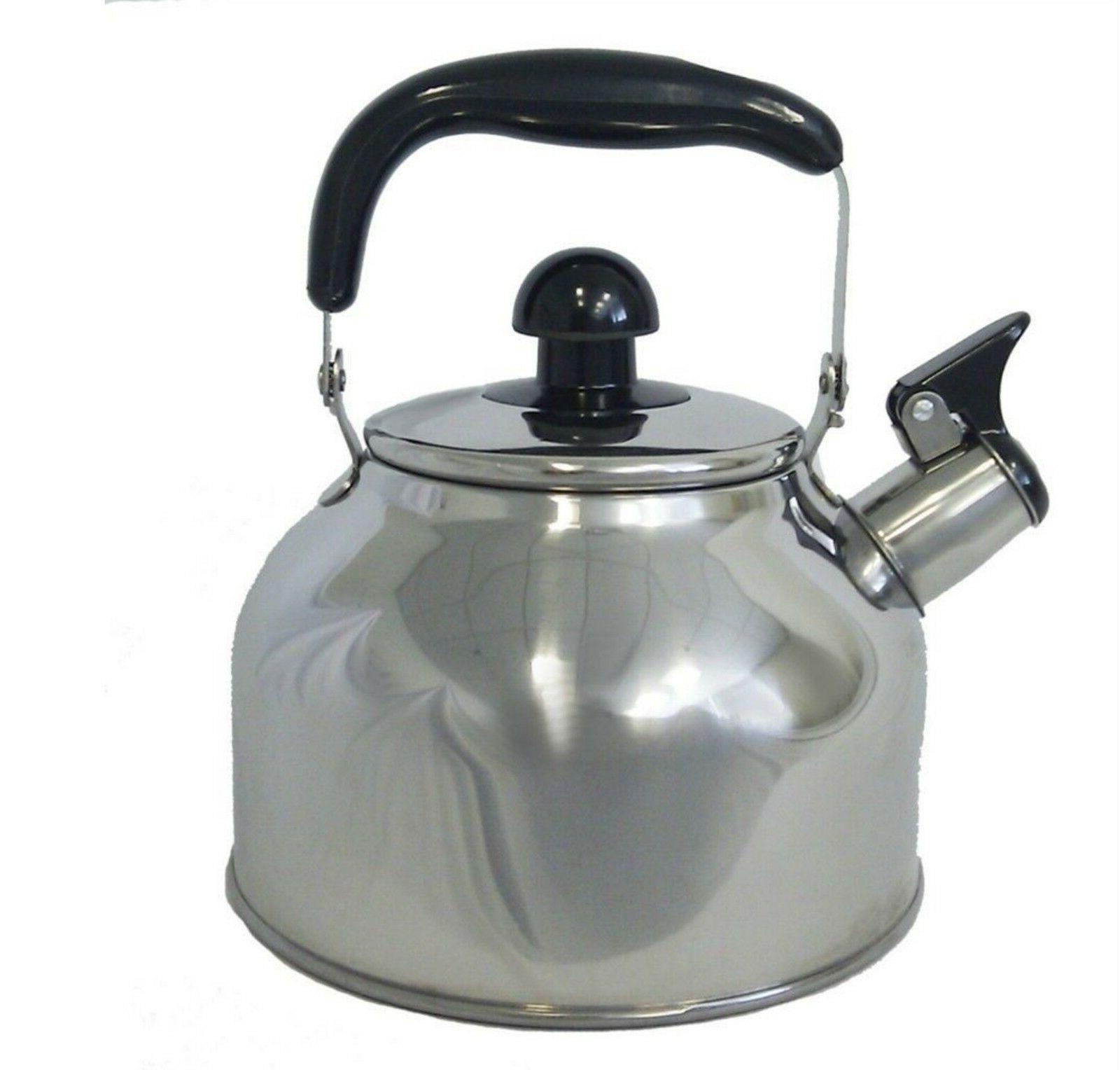Stainless Steel Large 4.5 Liter Quart Whistling Tea kettle P