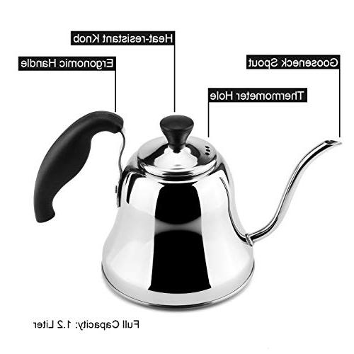 MROCO Kettle Stainless Steel Stovetop for Over Pour and for Home