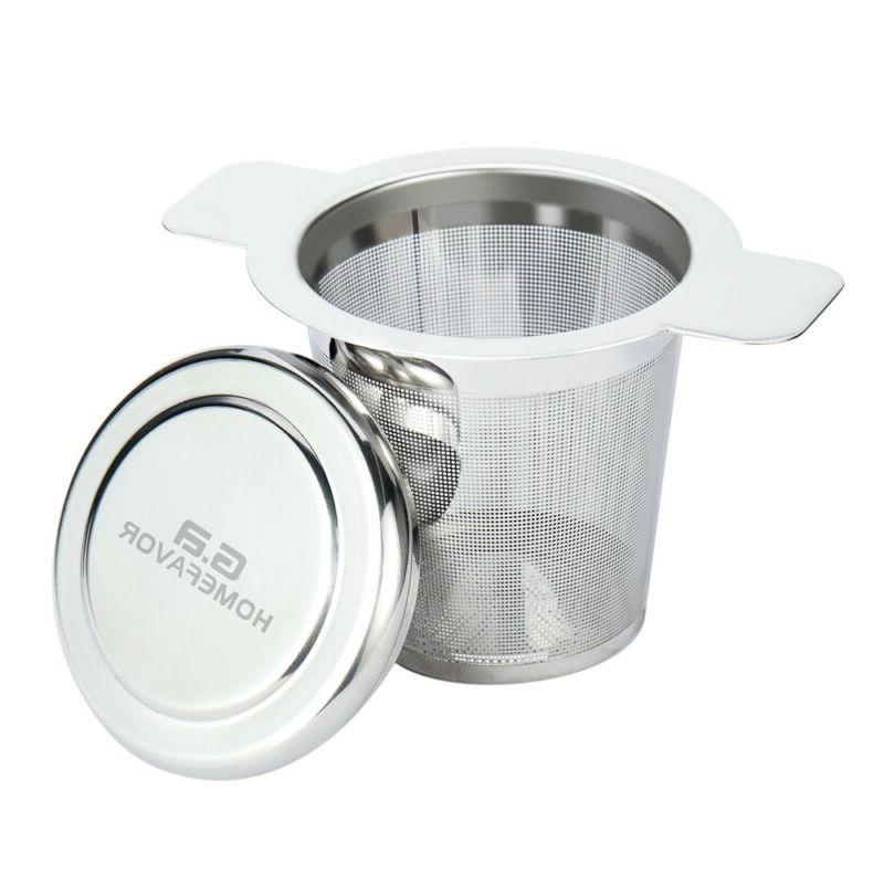Stainless Steel Strainer Filter Steeper Lid Teapot