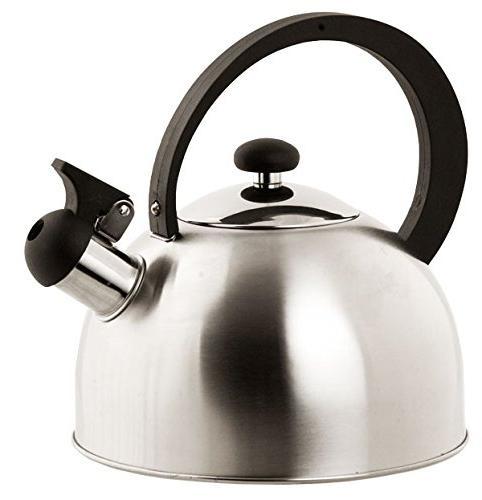 Home Basics Stainless Steel Tea Kettle, Silver