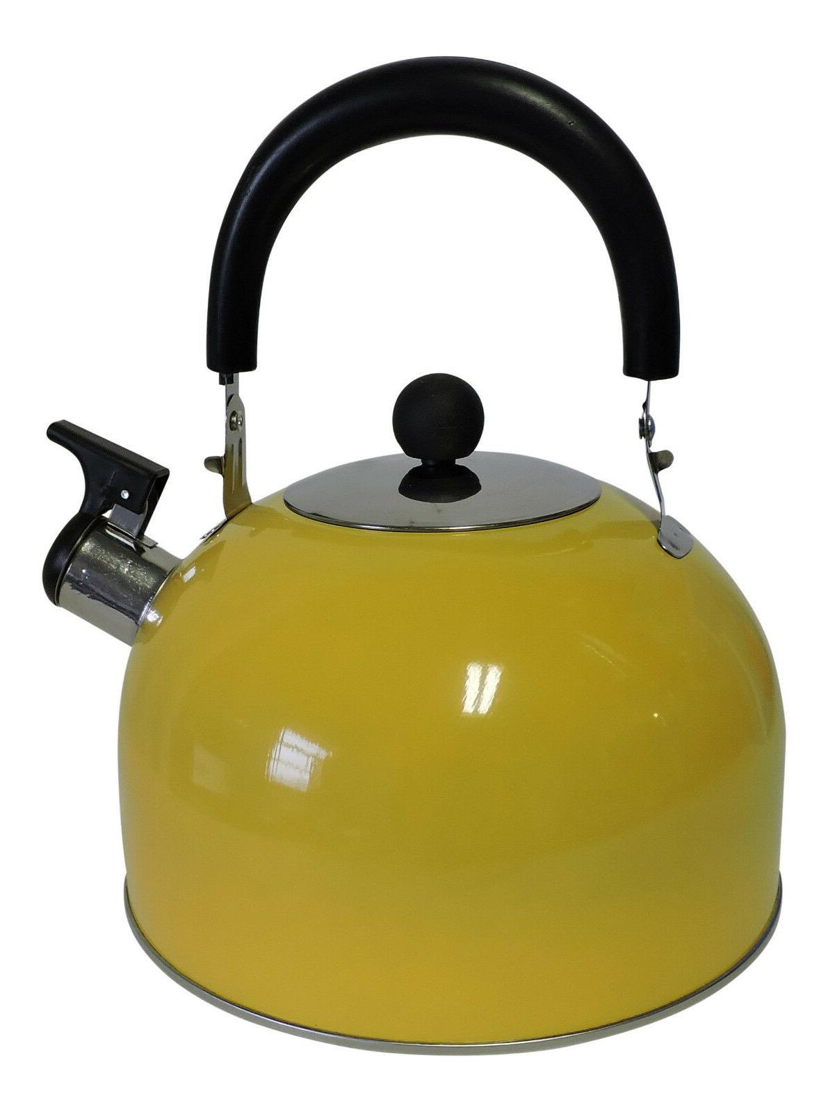 Stainless Steel Whistling Kettle Hot Water Tea Stovetop Yell