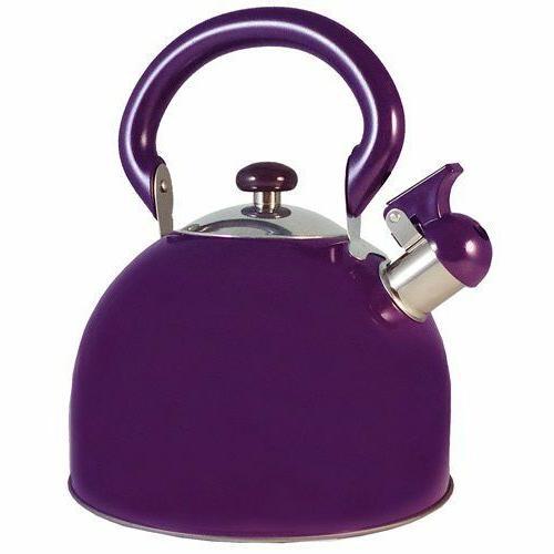 stainless steel whistling purple tea kettle 3