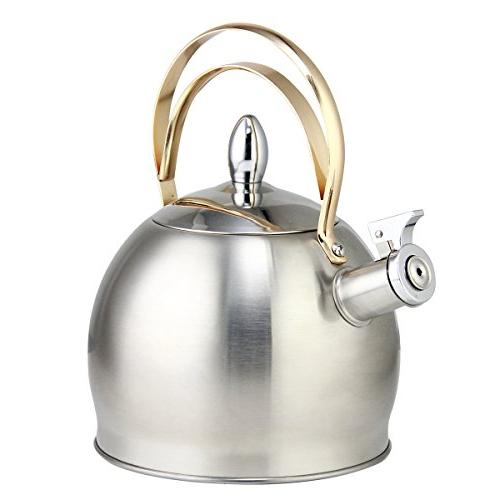 stainless steel whistling tea kettle