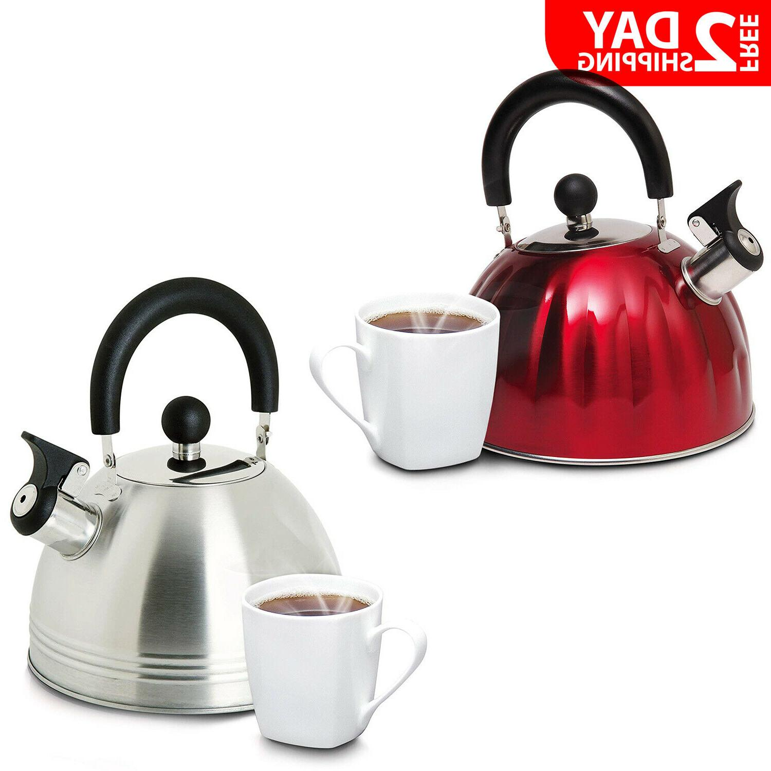 stainless steel whistling tea kettle hot water