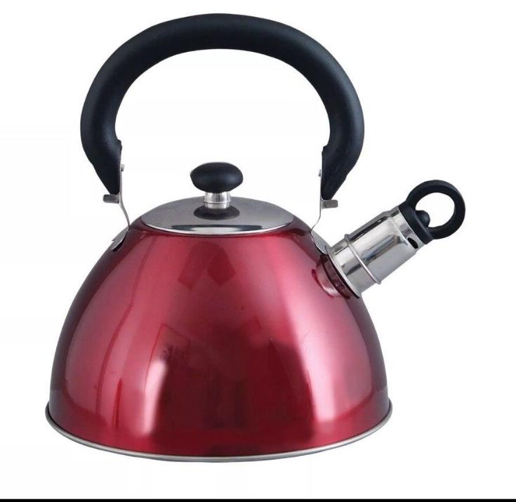 Stainless Steel Whistling Tea Kettle Silver Teapot Cookware