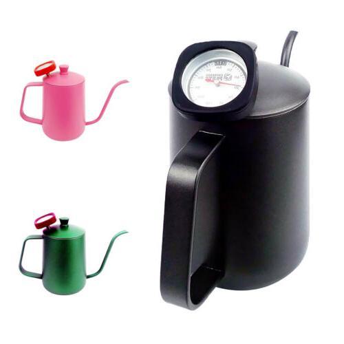 Tea Coffee Pot Espresso Hand Drip Pot Tool + Black