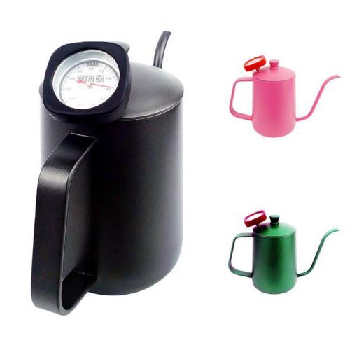 Tea Pot Hand Drip Pot Tool Thermometer Black