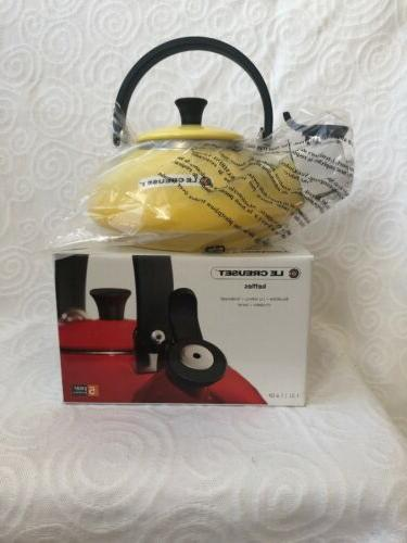 Le Creuset Tea Kettle 1.5L , 1.6QT, Sun Color - New in Box