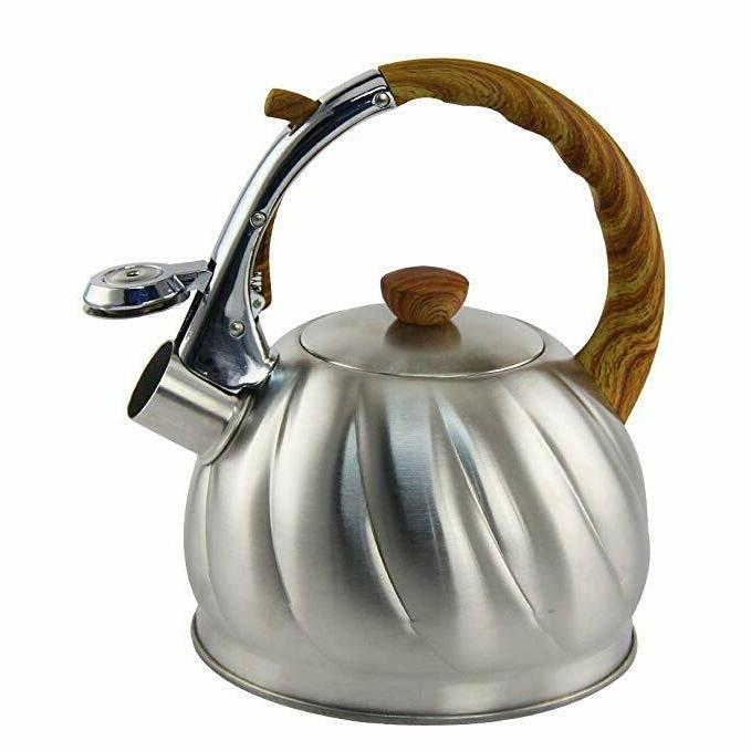 Tea 2.1 Whistling Stainless Steel Stove Teapot