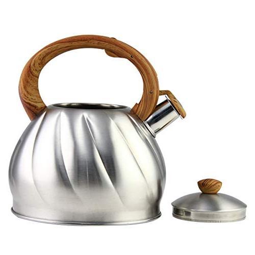 Riwendell Tea 3.2 Quart Whistling Steel Stove Top