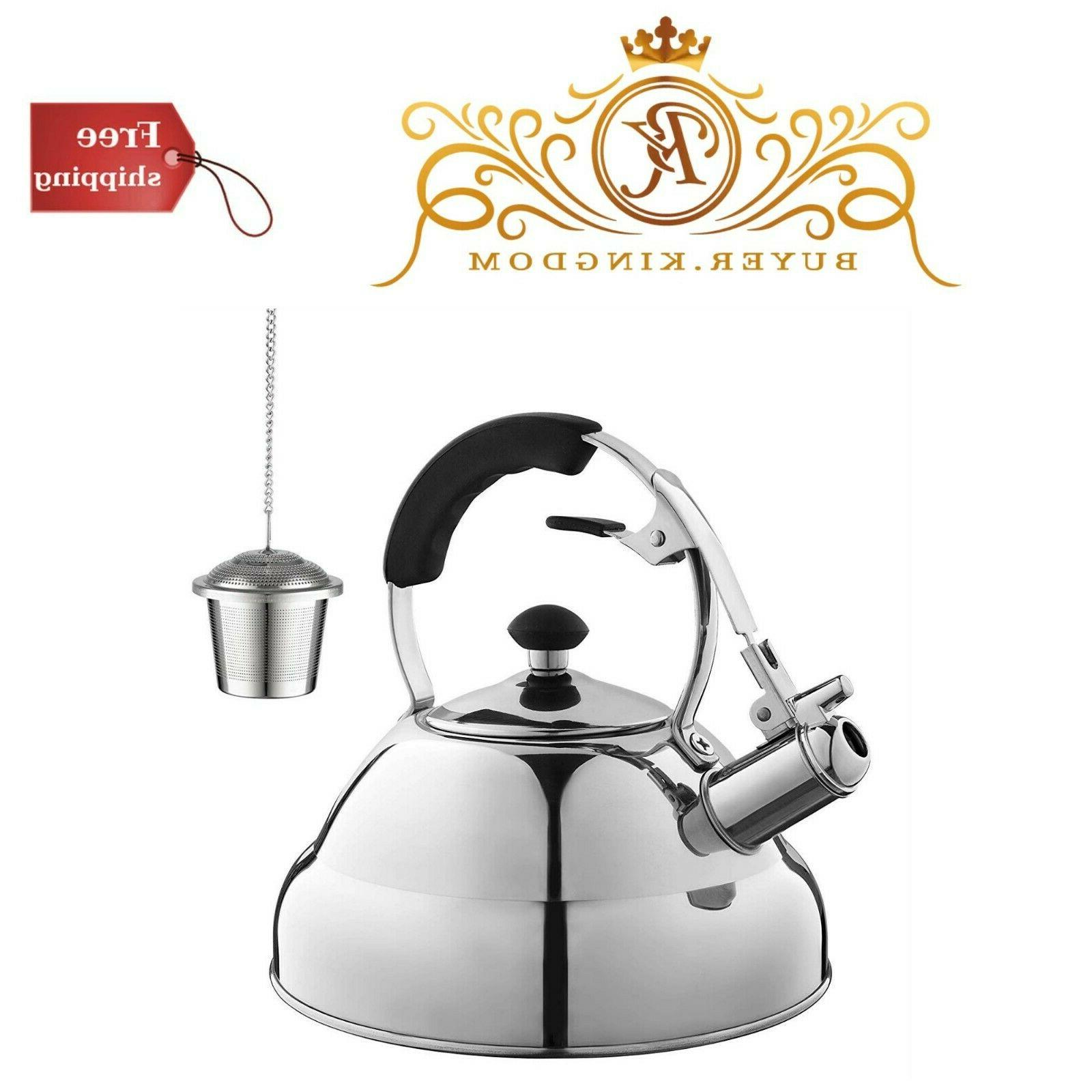 Tea Kettle Capsule Bottom Mirror Finish Teapot Home Kitchen