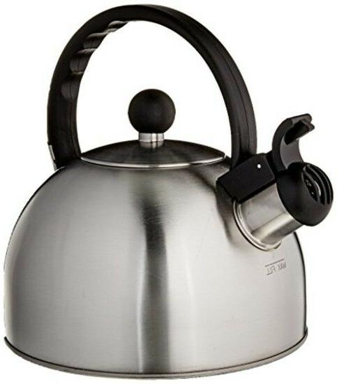 tea kettle classic whistling brushed stainless steel
