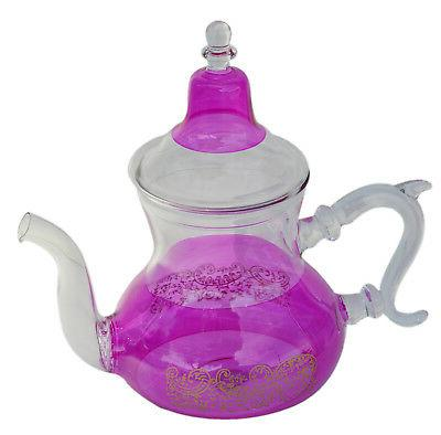 Tea Kettle Coffee Pot Glass Moroccan Handmade Heat Resistant