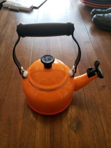 Le Ombre Orange enamelware