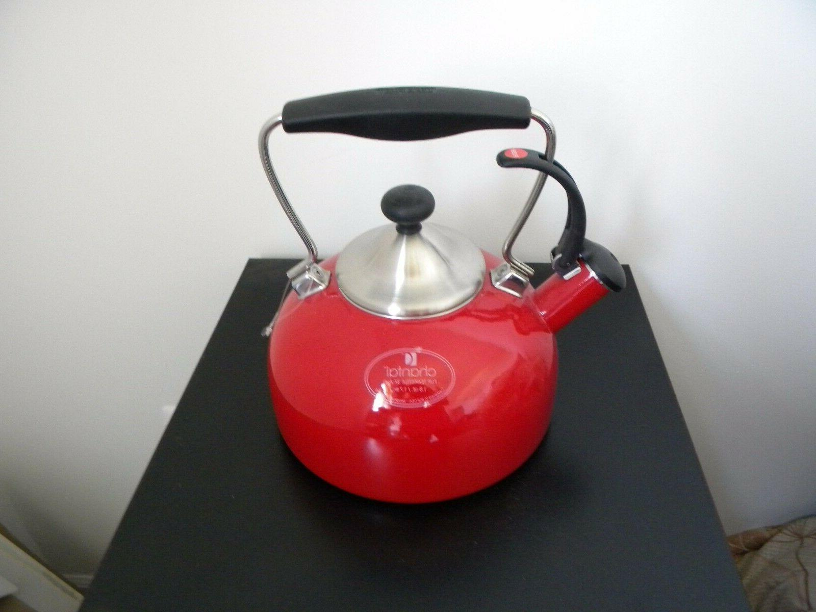 tea kettle red color 1 8qt